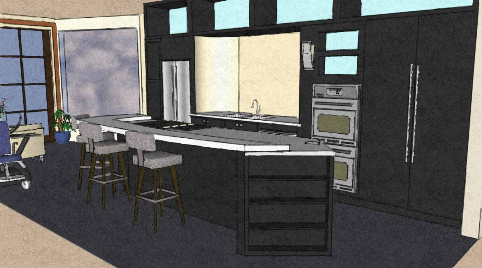 The First Is A View Of The North Wall Of My Residential Kitchen Design Posted In
